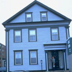 The house where the Borden murders took place, now a bed-and-breakfast.