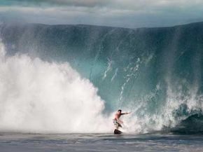 Surf's up -- really up. This is the kind of wave you mightsee on the North Shore.