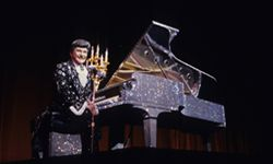 Just one of Liberace's many custom pianos.