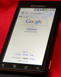 The Android smart phone operating system appeared on several phones in 2009, including the Verizon Droid.