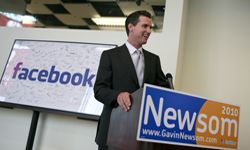 Popular Web Sites Image Gallery San Francisco Mayor Gavin Newsom speaks to reporters following a visit to the Facebook headquarters in California. See more pictures of popular web sites.