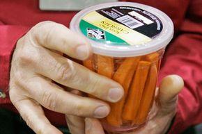 Carrot sticks make a healthy in-flight snack.