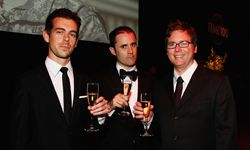 Jack Dorsey, Evan Williams and Biz Stone of Twitter attend Time's 100 Most Influential People in the World Gala.