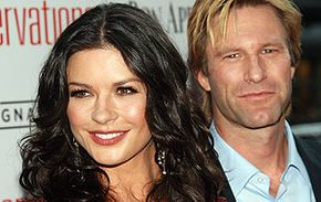 "Catherine Zeta-Jones and Aaron Eckhart heated up the kitchen in ""No Reservations."""
