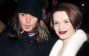 "Juliette Binoche and Johnny Depp star in ""Chocolat."""