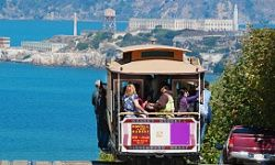 San Francisco's cable cars help families tackle the city's steep hills.