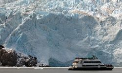 Marvel at mighty glaciers in comfort, from the bow of a cruise ship.
