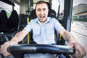 This bus driver's reaction is appropriate: Trying to outrun a tornado in your vehicle is totally unsafe.