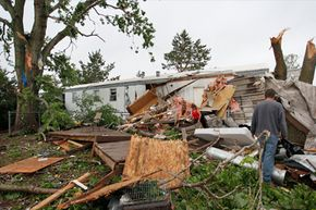 Trailer parks – with their lack of stable foundations and their lightweight structures – suffer a lot of damage in tornadoes.