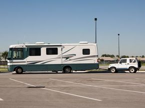 If you plan on towing a street vehicle along with your RV, a towing braking system is necessary. See more truck pictures.