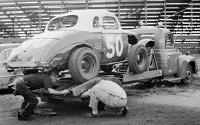 Loading a race car onto a trailer used to be a bit more difficult than it is now.