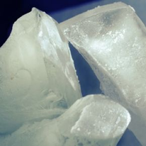 While dry ice looks like it would be cold, it's extremely dangerous to the touch and can cause severe burns.