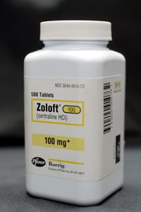 Tourette's patients who also have OCD may be able to take antidepressants like Zoloft.