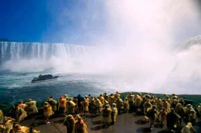 Join the yellow-coated herds at the Maid of the Mist, Niagara Falls.