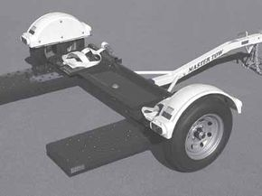 Tow dollies can weigh more than 500 pounds (225 kilograms).