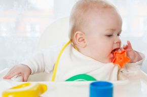 Toys of different shapes and textures give your baby practice with grasping objects.