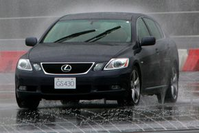 This Lexus GS makes good use of complex engineering to keep the car straight and deliver a safe ride.