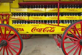 The Coca-Cola formula has been around even longer than this antique wagon in central Georgia.