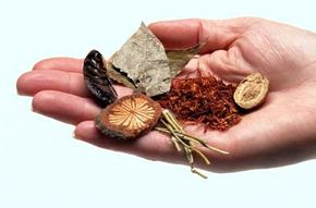 In China, many herbs are used as medicinal                              substances each year.