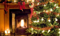 Softer colors are the trademark of a Victorian Christmas.