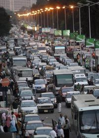 Cairo, Egypt is one of the world's worst cities for traffic congestion.