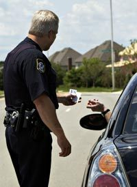 Officers will ask to see your drivers license and registration during a traffic stop.
