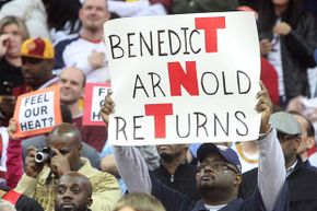 When basketball star LeBron James played in Cleveland the first time after his defection to the Miami Heat, Cavaliers fans let him know how they really felt about him. When he eventually returned to the Cavs, all was forgiven.