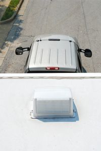 Installing a trailer roof vent cover, like the one shown here, isn't very difficult -- just make sure it's properly sealed.