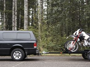 Even small trailers like this one for towing motorcycles need to be wired to your vehicle.