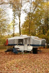 Pop-up trailers may take an extra few minutes to set up, but they are great for packing extra amenities into a small space.