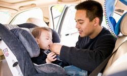 Bringing along a car seat will be handy if you plan to do much driving on your trip.