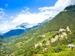 Tirolo Castle, Trentino Alto Adige, Italy. See more wine pictures.