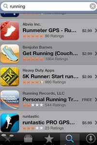 """Enter """"running"""" into the Apple App Store's search bar, and you will discover more running apps than you can shake a stick at -- but some only calculate distance in GPS mode."""