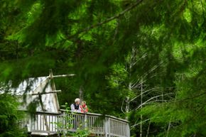 If a portaledge or a tree boat are not your thing, a tree house stay can you provide you with a similar experience -- without all the risks.