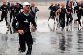 A triathlete may need to nearly double caloric intake.