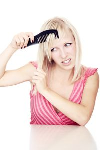 Combing hair can exacerbate the pain of trichodynia.
