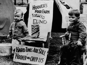 At the outset of the Great Depression, many people blamed the fiscal policies under President Hoover that favored the wealthy. See more recession pictures.