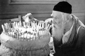 Abraham Wischovsky celebrating his 122th birthday in Bronx, New York circa 1930.