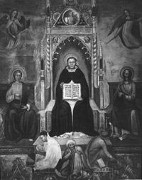 St. Thomas Aquinas, the 13th-century philosopher who established the Doctrine of Double Effect.