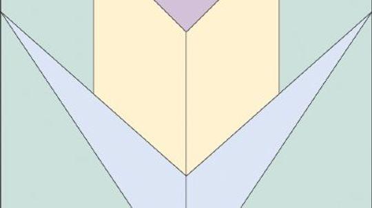 Trumpeting Tulip Quilt Block