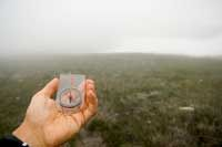 You can adjust your compass to find true north.