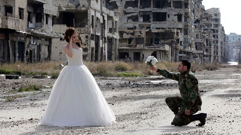Syrian newly weds, Homs