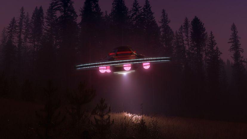 UFO at night