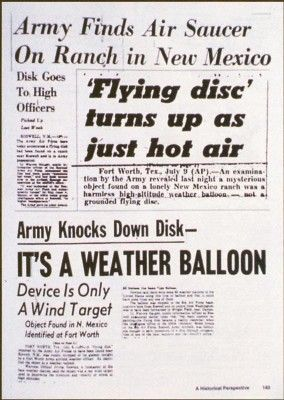 Government authorities explained away the wreckage of a mysterious aircraft discovered near Corona, New Mexico, in 1947 as the remains of a weather balloon, but those who participated in the recovery now admit that this was false.