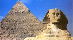 Ancient-astronaut lore believes that the Great Pyramids and the Sphinx are creations of superior extraterrestrial technology. Such theories have no real basis in fact.