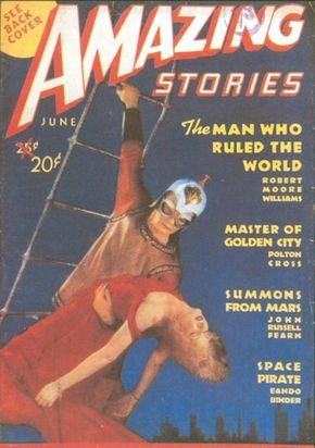 """Amazing Stories was the first science-fiction magazine. In the mid-1940s it promoted the bizarre -- and supposedly true -- """"Shaver mystery,"""" which anticipated some themes of later UFO lore."""