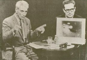 The most celebrated contactee of the 1950s was George Adamski. New York radio and television personality Long John Nebel provided Adamski with a forum to promote his books and photographs, though Nebel did not hide his personal skepticism.