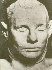 In 1948 an unidentified man was found on a beach in Australia. Eventually, a tabloid reported that he was an extraterrestrial. His death mask often appears in UFO literature.