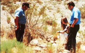At Socorro, New Mexico -- the site where Lonnie Zamora saw a UFO -- investigators found burn marks and impressions in the ground that indicated the presence of strange craft.