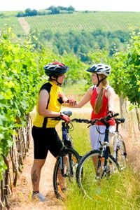 A bike tour around local vineyards is a great way to get an up-close view of the grapes -- and a workout, to boot!